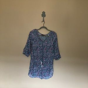 Multi color 3/4 sleeve blouse